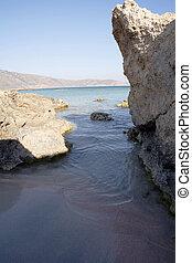 Elafonissos red sand