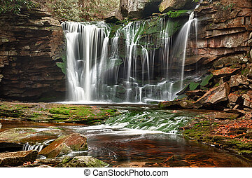 Elakala Falls in West Virginia - Slow shutterspeed photo of...