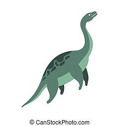 Elasmosaurus Aquatic Dinosaur Of Jurassic Period, Prehistoric Extinct Giant Reptile Cartoon Realistic Animal