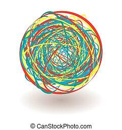 elastic band tangle icon