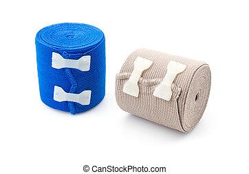 Elastic bandage isolated white background