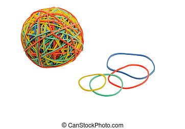 elastic bands for money