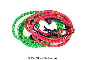 Elastic round rope with hooks for handbag.