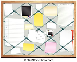 Elasticated pinboard.eps - An illustration of an old...