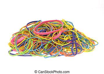 elastici, mucchio, colorato