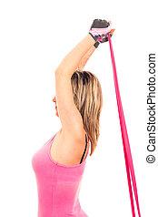 elastico, allungamento donna, idoneità