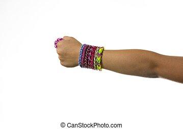 elastico, braccialetti