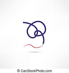 elastyczność, ikona