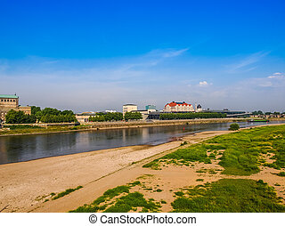 Elbe river in Dresden HDR
