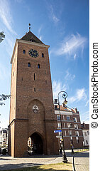 Elblag city gate - Tower at the city gate of Elblag in ...