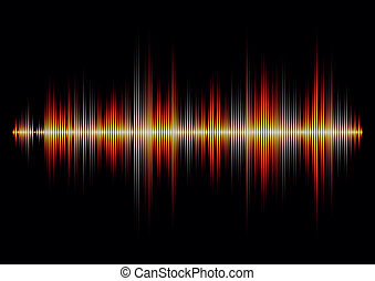 elbocsát, éles, waveform