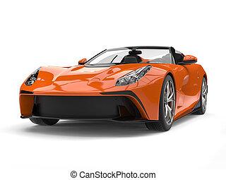 elbocsát, autó, modern, sport, narancs, átváltható, szuper