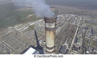 elbocsát, feláll, szén, erő, becsuk, antenna, állomás