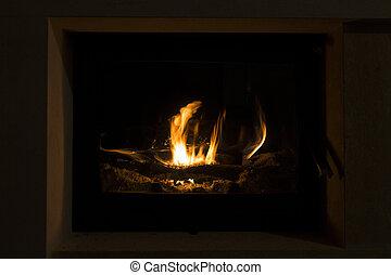 elbocsát, fireplace.