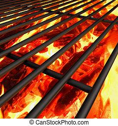 elbocsát, grillsütő, háttér, grill