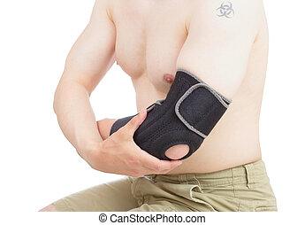 Elbow brace.