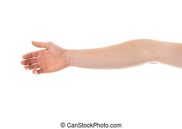 Elbow - Broken elbow, isolated on white