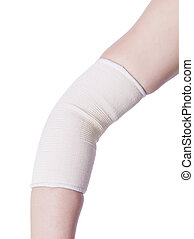 elbow wrapped with bandage