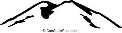 elbrus, 黑色半面畫像, 山