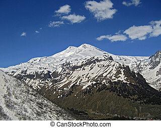 elbrus, caucas, nord, mountain.