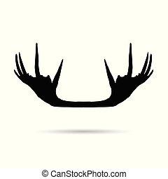 elch, silhouette, horn