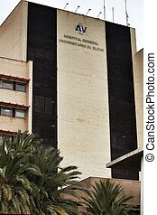 Facade of the General University Hospital of Elche