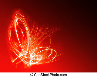 eld, abstrakt, bakgrund