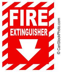 eld brandsläckare signera