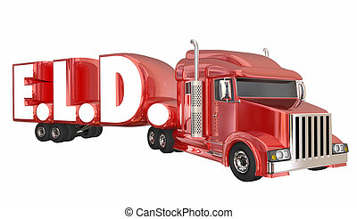 ELD Electronic Logging Devices Trucking 3d Illustration