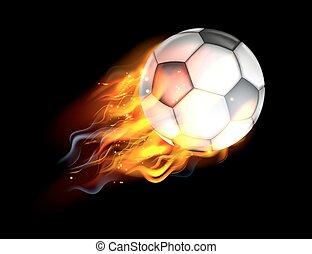eld, fotboll bal