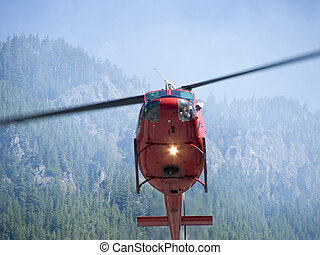 eld, helikopter, 2