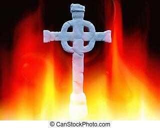 eld, kors, keltisk