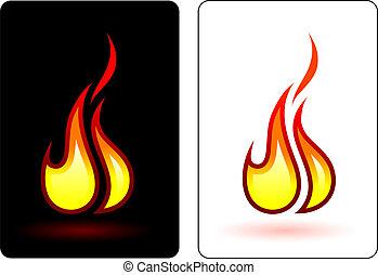 eld, låga