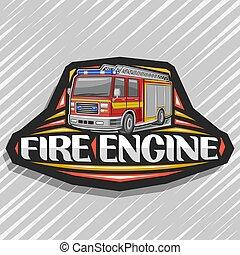 eld, logo, vektor, motor
