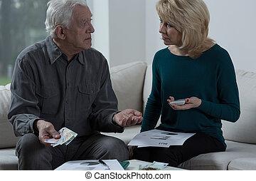 Elder marriage having financial problems