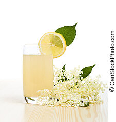 Elderberry flower flavored juice - isolated