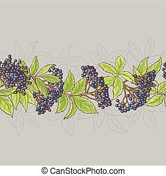 elderberry seamless pattern