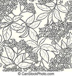 elderflower seamless pattern