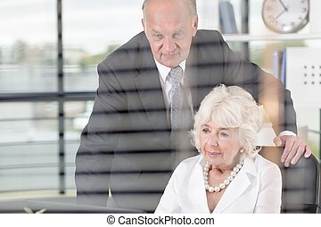 Elderly business people