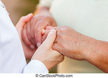 Elderly care - Giving helping hands for needy elderly people