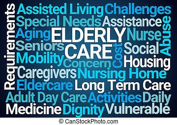 Elderly Care Word Cloud