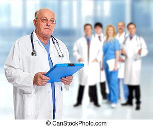 Elderly clinic doctor.