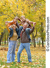 Elderly couple and grandchildren