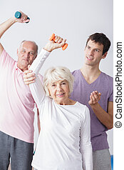 Elderly couple and sporty lifestyle