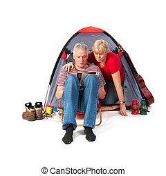 Elderly couple at the campground