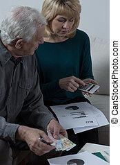 Elderly couple financial problems
