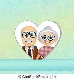 elderly couple - Grandparents Day