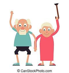 Elderly couple grandparents