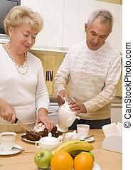 Elderly couple