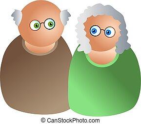 elderly couple - icon people